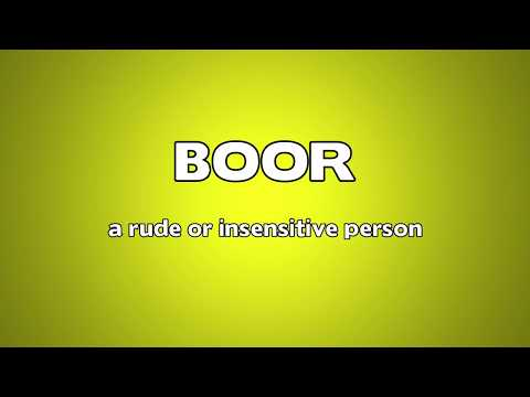 Boor Meaning