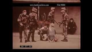 Northern Ireland Troubles in the 1970's.  Archive film 94068