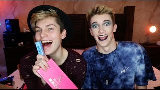 MY BROTHER DOES MY MAKEUP!