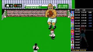 Mike Tyson's Punch Out speed run in 15:42.70 (Former WR)