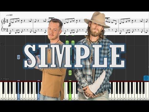 Download Florida Georgia Line - Simple - Piano Tutorial w Sheets free