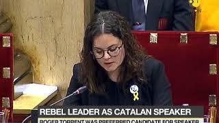 Rebel leader as Catalan speaker