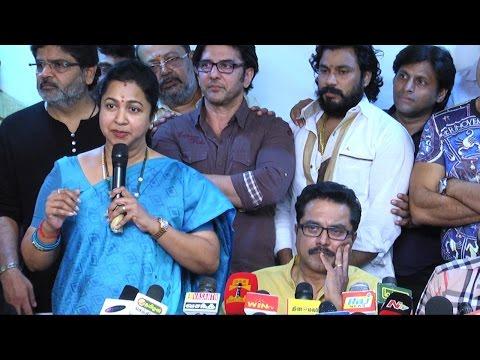 Radhika apologizes to Vishal's group at Nadigar Sangam Election 2015 Press Meet