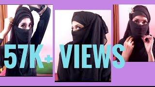 Pinless Hijab and Niqab style only 2 minutes (Requested)