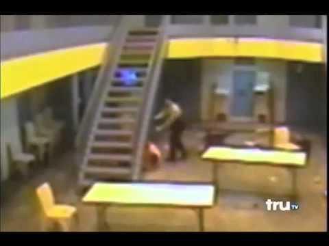 Prison stabbing caught on camera