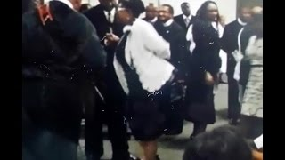 Her Son's Funeral didn't Stop her *Praise Break* she came out Rejoicing!