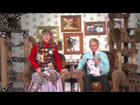 Taylor Swift On Ellen : 'Kitty Corner' Taylor Swift With Ellen Degeneres