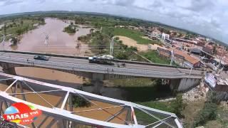 Imagens aéreas do Rio Jaguaribe em Iguatu