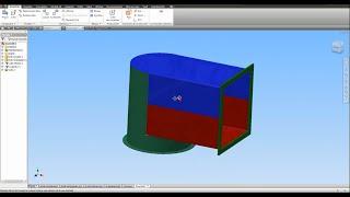 Tuto-39 Inventor 2014 Exercice création gaine de ventilation +LIEN plan