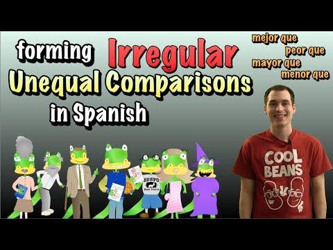 watch 01 Spanish Lesson - Unequal Comparisons (part 2) - Irregular Comparatives