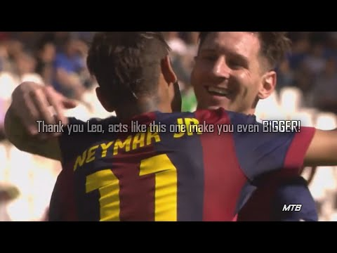 Lionel Messi Gives Penalty to Neymar vs Córdoba ● RESPECT!