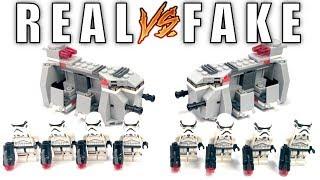 REAL VS FAKE LEGO 75078 Imperial Troop Transport Battle Pack!