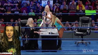 WWE Smackdown 4/24/18 Carmella & Charlotte contract signing
