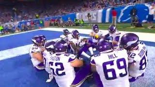 Case Keenum Touchdown w/ Thanksgiving Dinner Celebration!   Vikings vs. Lions   NFL