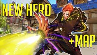 NEW Hero Moira + New Map Gameplay [Overwatch]