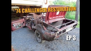 74 Dodge Challenger Restoration #3 - Stripping the Car