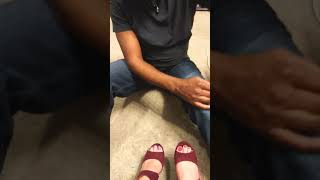 Feet worship on Valentine's Day
