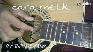cara memetik gitar