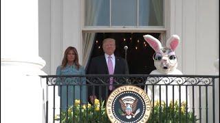 Trump, Melania host annual White House Easter Egg Roll