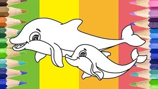 How to Draw Dolphin Coloring Pages Youtube Drawing Video for Kids