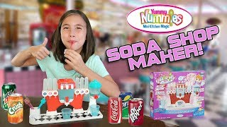 SODA SHOP MAKER!!! DIY Mini Sodas! Yummy Nummies Mini Kitchen Magic