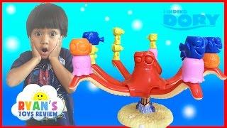FINDING DORY GAME Disney Pixar Finding Nemo Egg Surprise Toys Family Fun Game Night Ryan ToysReview