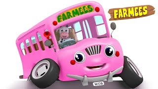 The Wheels On The Bus Songs for Children Kids Rhymes by Farmees S02E4251