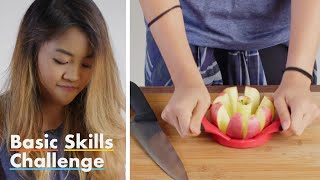 50 People Try to Core and Slice an Apple | Epicurious