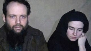 American hostage begs for family