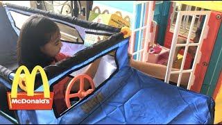 McDonalds Drive Thru Pretend Play Saves The Day | Toys Academy