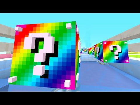 Minecraft 1v1 RAINBOW LUCKY BLOCK RACE Minecraft 1.8 Mods w PrestonPlayz & JeromeASF