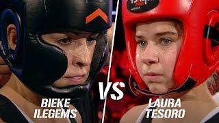 Laura Tesoro vs Bieke Ilegems   Boxing Stars