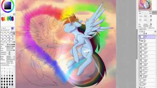 Soarin X RainbowDash Enchanted