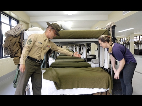Xxx Mp4 U S Marine Tries To Teach Reporter How To Make A Military Style Bed 3gp Sex