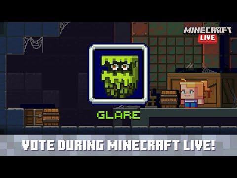 Minecraft Live 2021 Vote for the glare