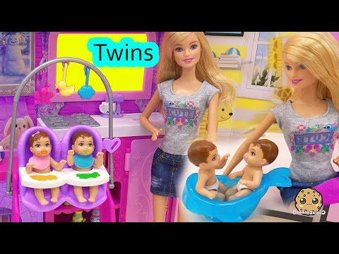 Xxx Mp4 Barbie Babysitting Baby Twins Color Change Water Bath Play Video Babysitter Playset Cookieswirlc 3gp Sex