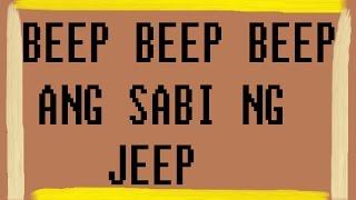 Beep(3x) Ang Sabi ng Jeep (dubi dubi dap dap) LYRICS