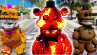 BRAND NEW LAVA FREDDY ANIMATRONIC! (GTA 5 Mods For Kids FNAF RedHatter)