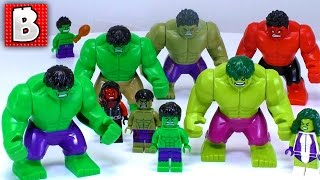 Every LEGO HULK Minfigure Ever Made!!! | Collection Review