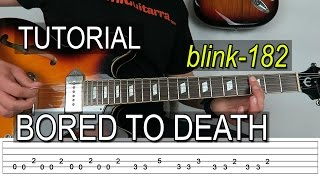 COMO TOCAR BORED TO DEATH de BLINK-182  TAB en Guitarra - FermiGuitarra
