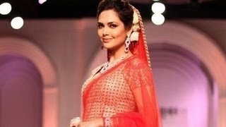 Sexiest Esha Gupta | Bridal Fashion Week Ramp Walk And Exclusive Interview (2013)