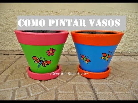 Como pintar vasos de cerâmica Faça você mesmo