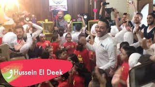 زيارة النجم حسين الديك الى جمعية ccs لأطفال مرضى السرطان في مينة حلب الشهباء