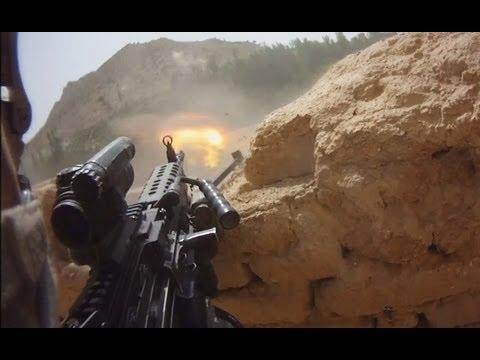 FIREFIGHT ON HELMET CAM IN AFGHANISTAN PART 1 FUNKER530