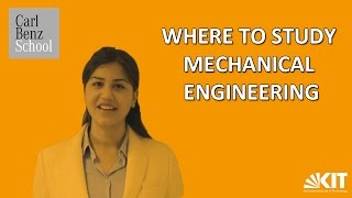 Isha about Where to Study Mechanical Engineering