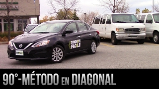 Estacionamiento a 90° de reversa - El método en diagonal