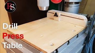 Making A Simple Drill Press Table