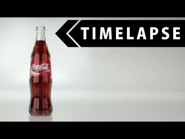 Coca Cola - Modeling, Texturing, Rendering (BLENDER TIMELAPSE)