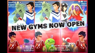 Pokémon GO NEW GYMS NOW OPEN NEW GYM BATTLE GAMEPLAY!