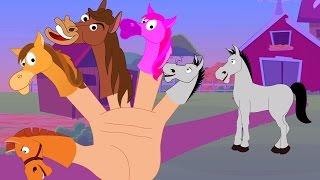 Família do dedo do cavalo | Verso infantil | Nursery Rhyme For Kids | Horse Finger Family